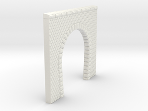 NT11 Tunnel portal for single track in White Natural Versatile Plastic