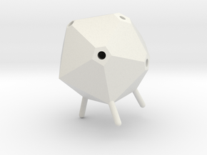 Icosahedron Pen Holder in White Natural Versatile Plastic