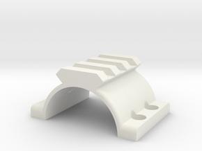 NC Star XRS RIS Ring mount in White Natural Versatile Plastic