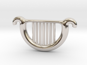 Goddess's Harp in Rhodium Plated Brass