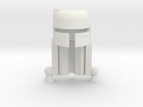 Boba Helmet in White Natural Versatile Plastic