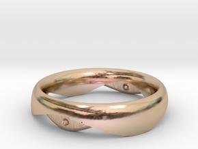 Swing Ring elliptical 18mm inner diameter in 14k Rose Gold Plated Brass