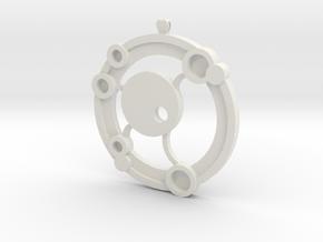 Orbit Amulet in White Natural Versatile Plastic