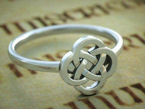 Celticring6 in Polished Silver