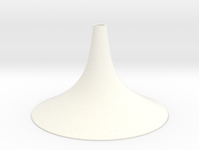 Simple Small Conical Vase in White Processed Versatile Plastic