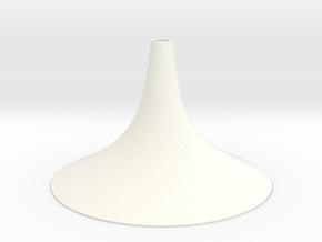 Simple Small Conical Vase in White Processed Versatile Plastic
