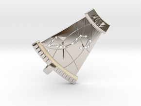 Scorpio Constellation Pendant in Rhodium Plated Brass
