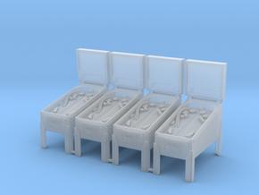 4 X Miniature Pinball Machines in Smoothest Fine Detail Plastic