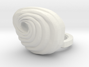 Custom Tobi Inspired Mask for Lego in White Natural Versatile Plastic