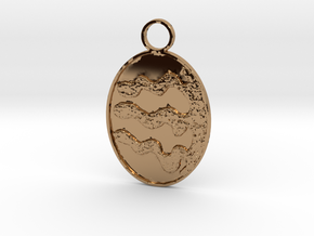 4,3 Wiggled Keychain in Polished Brass