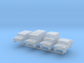 1/220 z-scale Humvee HMMWV Hummer 4 types in Smooth Fine Detail Plastic