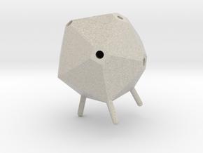 Icosahedron Pen Holder in Natural Sandstone