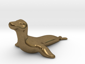 Seal Desk Toy in Natural Bronze