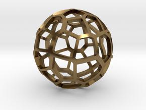 Voronoi sphere 2 in Polished Bronze