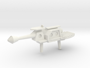 Prototype Turret Cannon Rifle in White Strong & Flexible