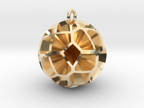 Voronoi sphere 3 in 14K Yellow Gold