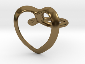 Heart Ring in Polished Bronze