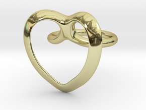 Heart Ring in 18k Gold Plated Brass