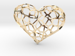 Voronoi heart in 14K Yellow Gold