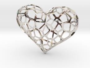 Voronoi heart in Platinum