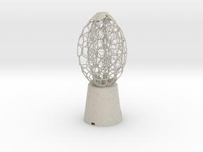 5 petal Lamp in Natural Sandstone