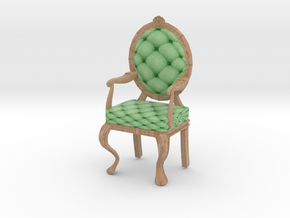 1:24 Half Inch Scale MintPale Oak Louis XVI Chair in Full Color Sandstone