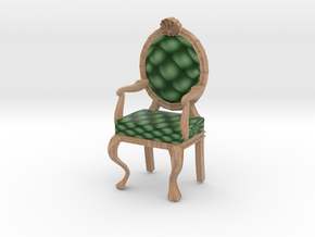 1:48 Quarter Scale PinePale Oak Louis XVI Chair in Full Color Sandstone