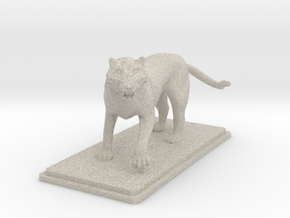 Tiger figure in Natural Sandstone