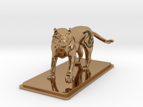 Tiger figure in Polished Brass