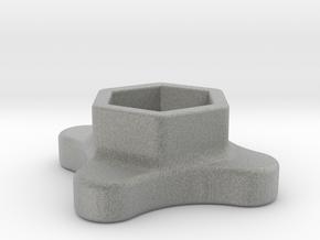 SMA Knob in Metallic Plastic