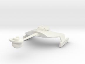 Klingon D7 Re-sized  in White Natural Versatile Plastic