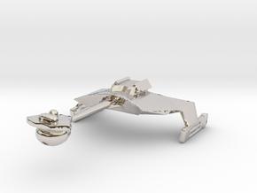 Klingon D7 Re-sized  in Platinum