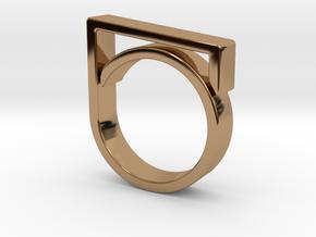 Adjustable ring for men. Model 1. in Polished Brass