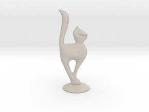 Cat-female in Natural Sandstone
