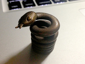 Snake Cigarette Stubber in Natural Bronze