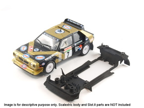 S05-ST1 Chassis for Scalextric Delta S4 w/spoiler in White Strong & Flexible