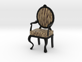 1:12 Scale Tiger/Black Louis XVI Oval Chair in Full Color Sandstone