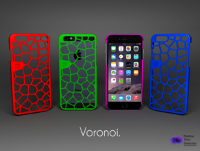 Iphone 6 case - Voronoi pattern in Red Strong & Flexible Polished