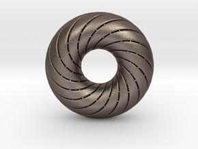 0172 8-Torus [2-2-4-4] (n=8, 5.0cm)  in Stainless Steel
