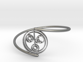 Nicole - Bracelet Thin Spiral in Natural Silver