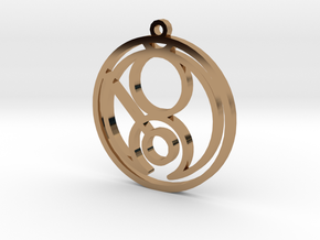 Gina - Necklace in Polished Brass