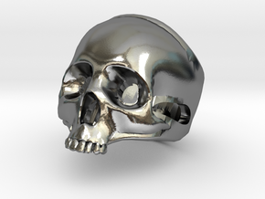 "The ""Ct Skull Ring"" in Polished Silver"