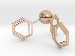Triphenylphosphine in 14k Rose Gold Plated Brass