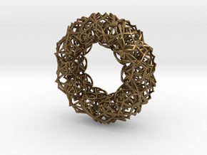 Bracelet The  geometric  size 2 3/4 (70mm) in Polished Bronze