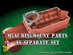 M5A1 Ringmount set in Smooth Fine Detail Plastic