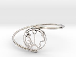 Stephen - Bracelet Thin Spiral in Rhodium Plated