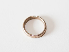 More Pain Ring in Polished Bronzed Silver Steel: 8 / 56.75