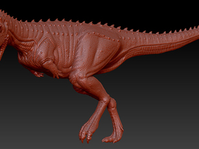 1/40 Carnotaurus - Running in White Natural Versatile Plastic