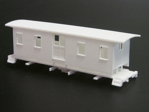 HOn3 30ft Baggage Car A in White Natural Versatile Plastic