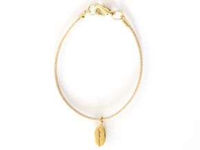 Coffee Bean in 14k Gold Plated Brass